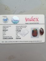 Used Garnet stone with certificate in Dubai, UAE