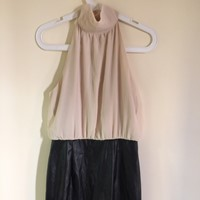 Used Forever21 Party #Dress #Wornonce #Almostnew Chiffon On Top And Leather At Bottom in Dubai, UAE