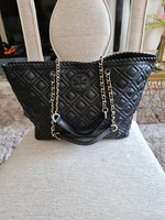 Used TORY BURCH QUILTED LEATHER TOTE BAG.. in Dubai, UAE
