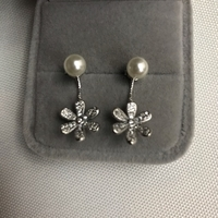 Used 925 silver flower 🌸 design earrings in Dubai, UAE