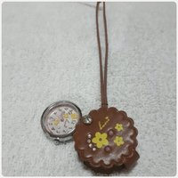 Pocket watch brown color brand new.