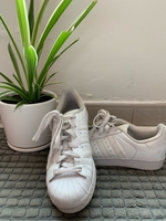 Used Original Adidas Superstar white sneakers in Dubai, UAE