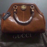 Brown Gucci handbag