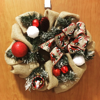 Used Christmas Wreath handmade in Dubai, UAE