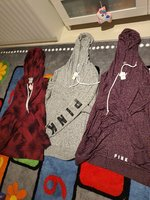 Used Bundle of VS Pink medium hoodies in Dubai, UAE
