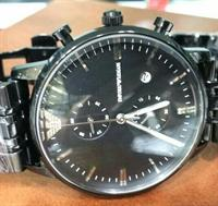 "EMPORIO ARMANI ""Classic Black"" MEN'S WATCH/TIMEPIECE"