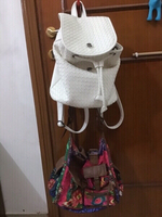 Desigual bag and White backpack