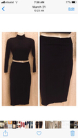 Black top and skirt size S