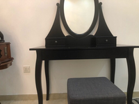 Used Black Vanity desk with stool  in Dubai, UAE