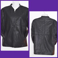 Used Black Leather Jacket/ Medium  in Dubai, UAE