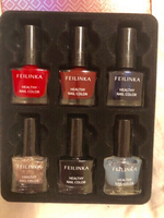 Used Water based nail polish FEILINKA 5 color in Dubai, UAE