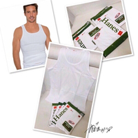 Used Hanes TankTop white -Large 5pcs❤️ in Dubai, UAE