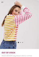Used ASOS Colourblock striped top in Dubai, UAE
