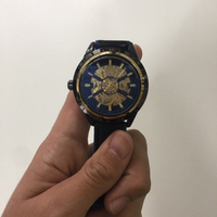 automatic leather Forsining Watch Blue