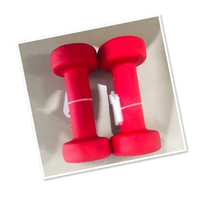 Used Dumbbell 2pcs (1.5 kg each ) red 💙 in Dubai, UAE