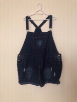 NEW Denim Dungaree Shorts Overall 5XL