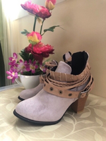 "Used NEW Ladies' 3"" Boots KHAKI Size 35 in Dubai, UAE"