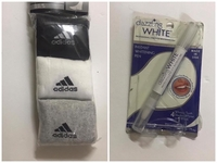 Used Adidas sports socks & Whitening pen in Dubai, UAE