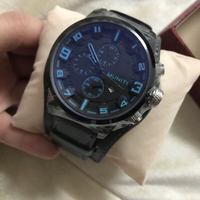 Used Mens sports Watch Black Blue Dial New  in Dubai, UAE