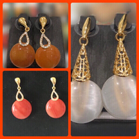 Used Fashion Earrings x 3 pairs in Dubai, UAE