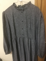 Used New Dress with long sleeve grey color in Dubai, UAE