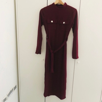 Used Ladies long frock Colour plum size Large in Dubai, UAE