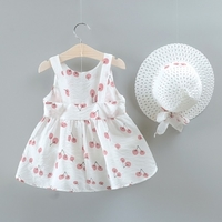 Used 2 pc toddler bow decorative dress/ hat in Dubai, UAE