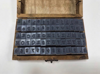 Used Alphabets and Numbers Stamps Set in Dubai, UAE