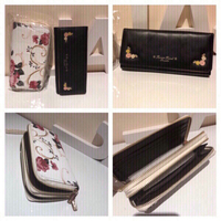 Floral wallet with strap + black free