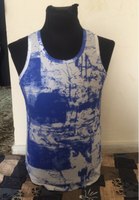 Used Blue textured vest - Size Large Singlet in Dubai, UAE
