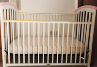 Used Wood Baby crib + mattress Babyshop brand in Dubai, UAE