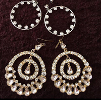 3 Fashion Earring from Aldo And Bangle