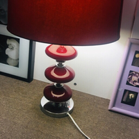 Used Glossy Red Table Lamp in Dubai, UAE