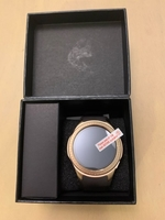 Brown and gold smart watch