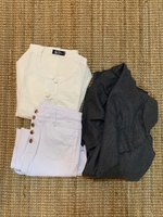 Used Jeans jacket and top set  in Dubai, UAE