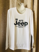 Used White print long sleeves T-Shirt XXXL in Dubai, UAE