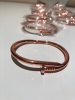 Used 10 pcs Nail shape rose/gold cuff bangle  in Dubai, UAE