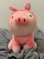 Used Miniso Piglet Plush with Rabbit Hoodie in Dubai, UAE