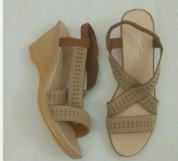 Used New Brown Wedge Sandal fits size-38-39 in Dubai, UAE