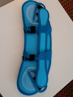 Car seat head support blue