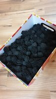 Used black flowers for decoration in Dubai, UAE