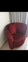 Used Red Sofa Round Chair in Dubai, UAE