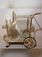 Used Gold and mirror bar cart/cart table in Dubai, UAE