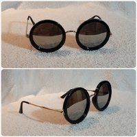 Used BEAUTIFUL shiny black sunglass fashion in Dubai, UAE