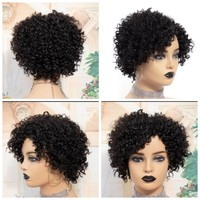 Black curly hair wig