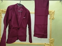 Used Men's BURGUNDYSuit  New Formal&Elegant in Dubai, UAE