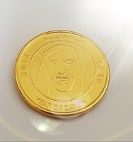Used 3 zayed coins 24karot gold plated in Dubai, UAE