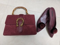 Used Charles and Keith shoes and matching bag in Dubai, UAE