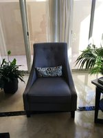 Used 2 lounge chairs in grey/blue shade in Dubai, UAE