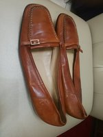 BALLY GENUINE LEATHER FLAT SHOES.SIZE40.